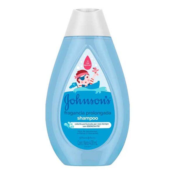 Johnson's Baby Shampoo Fragancia Prolongada con Vitamina E y Esencia Fix, 400 ml