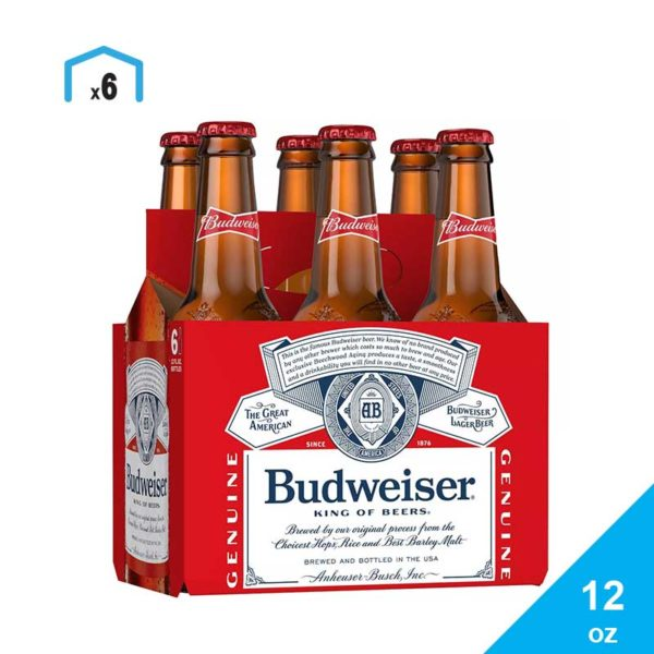 Cerveza Budweiser, 12 oz