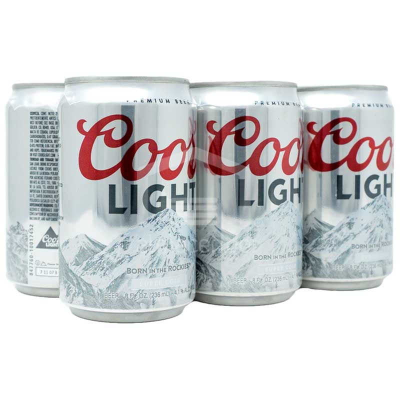 Cerveza Coors Light Mini Lata (6 Uds 8