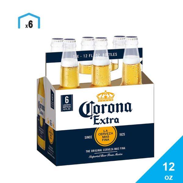 Cerveza Corona, 12 oz (6 pack)