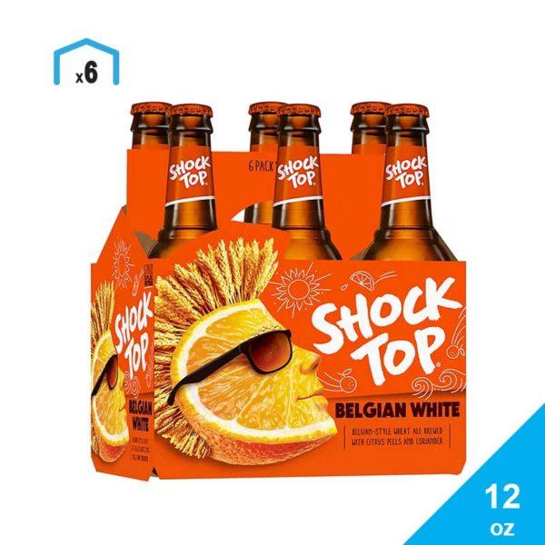 Cerveza Shock Top Belgian White, 12 oz
