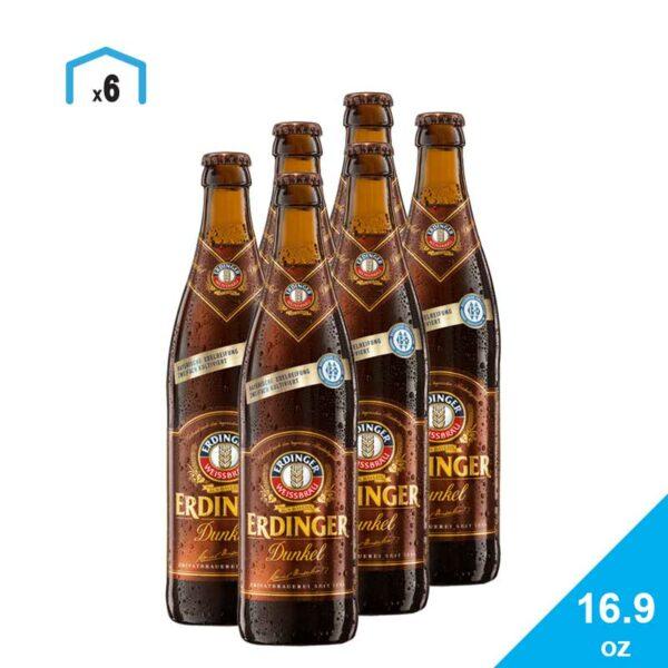 Cerveza Erdinger Dunkel, 16.9 oz