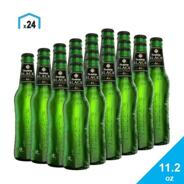 Cerveza Presidente Black, 11.2 oz