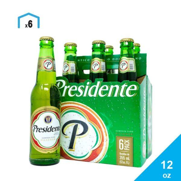 Cerveza Presidente, 12 oz (6 pack) (OFERTA)