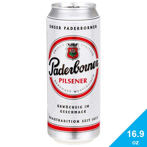 Cerveza Paderborner Brauerei Pilsener, 16.9 oz