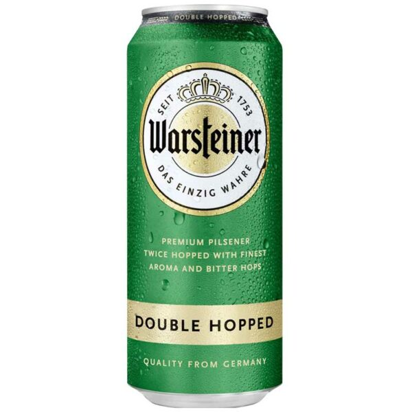 Cerveza Warsteiner Double Hopped Lata, 16.9 oz
