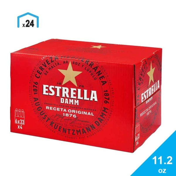 Cerveza Estrella Damm, 11.2 oz