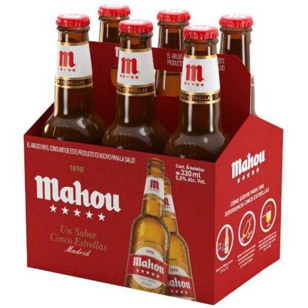 Cerveza Mahou Cinco Estrellas, 11.2 oz