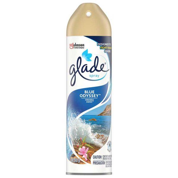 Ambientador Glade Fragancia Odisea Azul, 8 oz