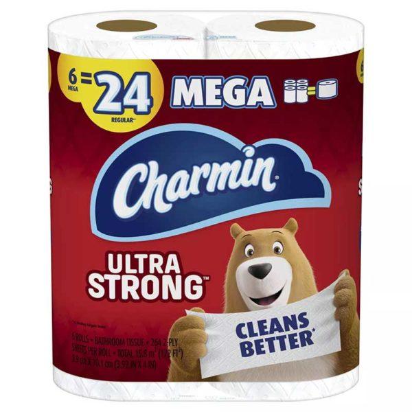 Papel Higiénico Charmin Ultra Strong Mega (6 uds)