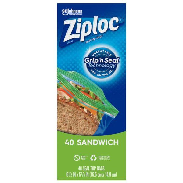 Bolsas Ziploc de Almacenamiento con Cierre Sandwich (40 uds)