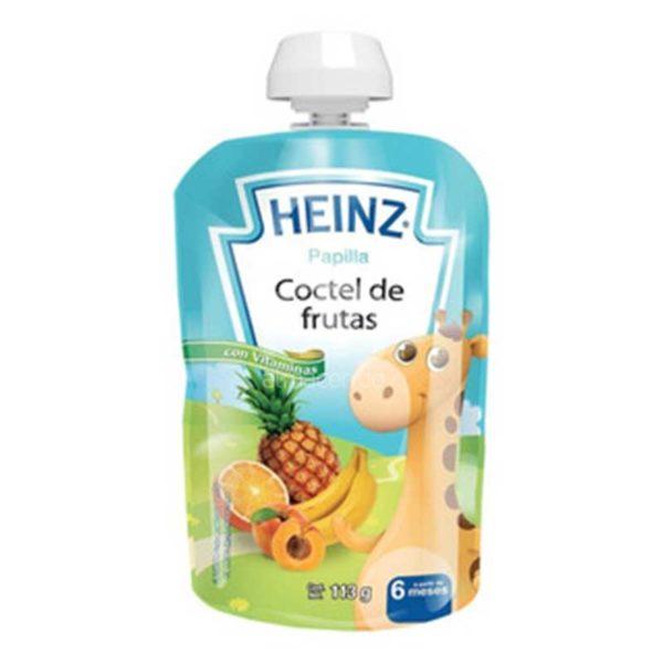 Compota Heinz Coctel de Frutas a partir de los 6 Meses Flexible, 113 g