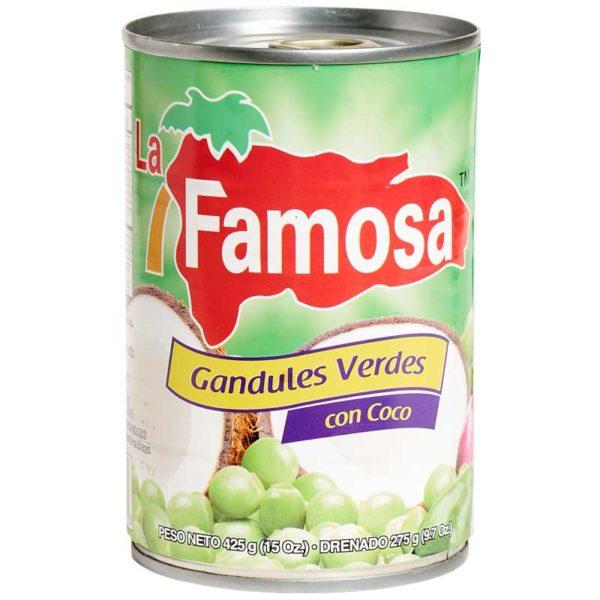 Guandules Verdes con Coco La Famosa, 15 oz