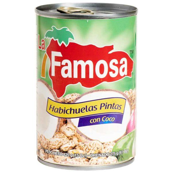 Habichuelas Pintas con Coco La Famosa, 15 oz