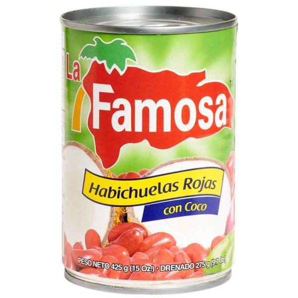 Habichuelas Rojas con Coco La Famosa, 15 oz