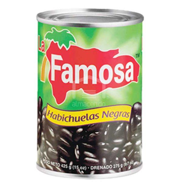 Habichuelas Negras La Famosa, 15 oz