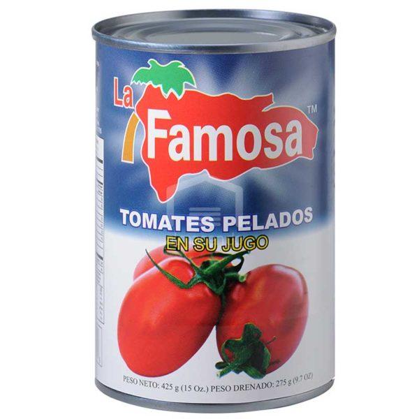 Tomates Pelados en su Jugo La Famosa, 15 oz