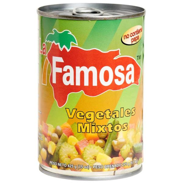 Vegetales Mixtos sin Papa La Famosa, 15 oz