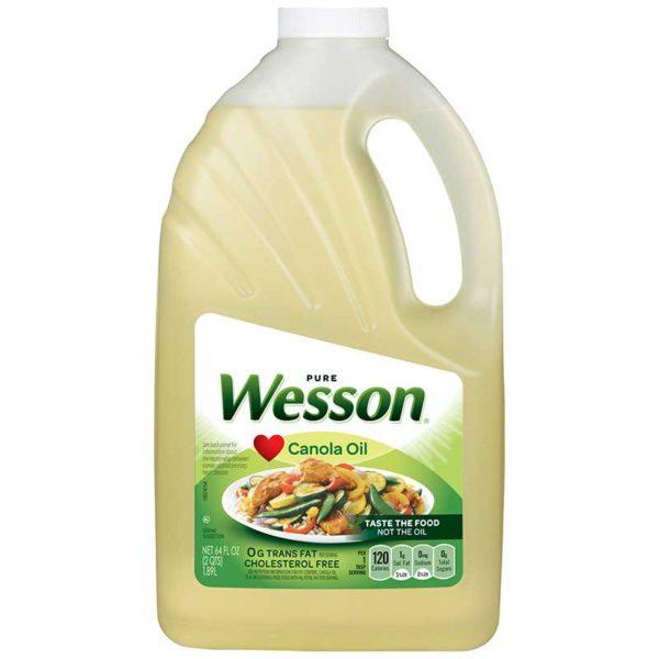 Aceite de canola Wesson, 64 oz