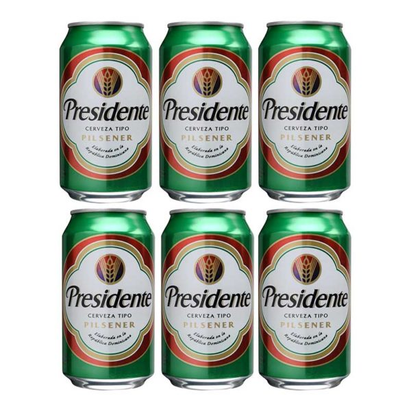 Cerveza Presidente Lata, 12 oz (24 uds)