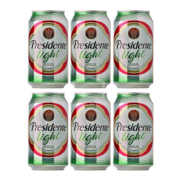 Cerveza Presidente Light Lata, 8 oz Caja (24 uds)