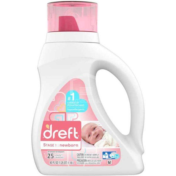 Detergente Dreft para Ropa de Recién Nacido, 40 oz