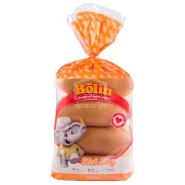 Pan de Hot Dog Bolin (8 uds)