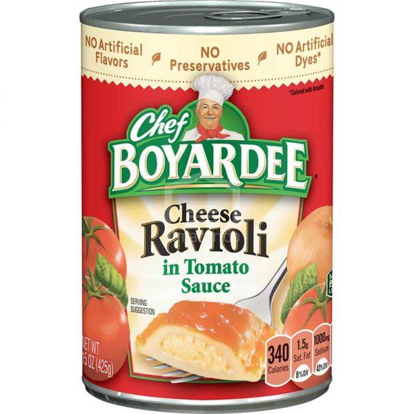 Ravioli de Queso Chef Boyardee en Salsa de Tomate, 15 oz