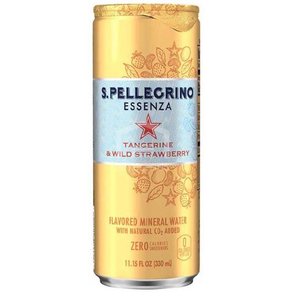 San Pellegrino Essenza Mandarina y Fresa Silvestre, 330 ml (6 pack)