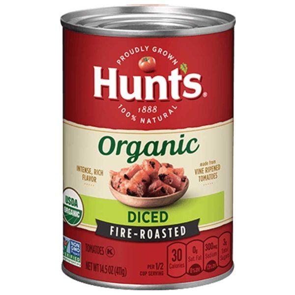 Tomates Orgánico Hunt's en Trozos Asados, 14.5 oz