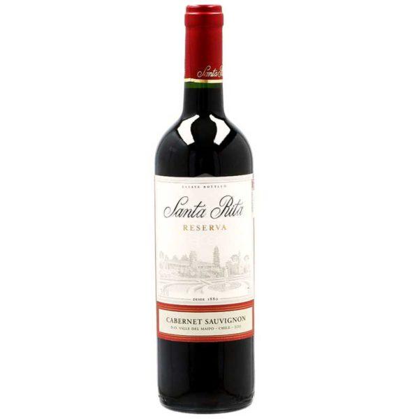Vino Tinto Santa Rita Estate Reserve Cabernet Sauvignon Chile 2018, 750 ml