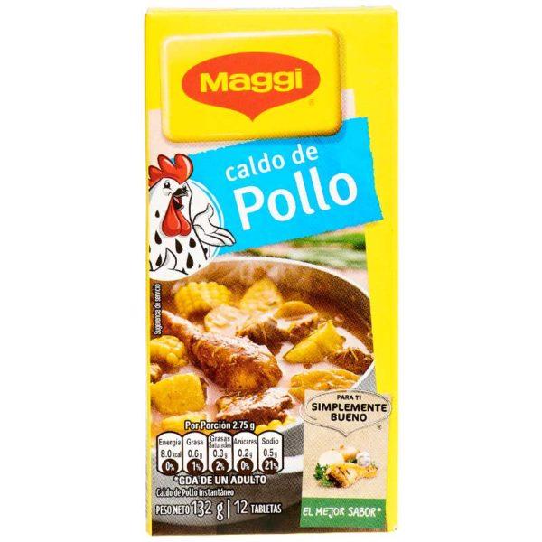 Caldo de Pollo Instantáneo Maggi, 12 Tabletas
