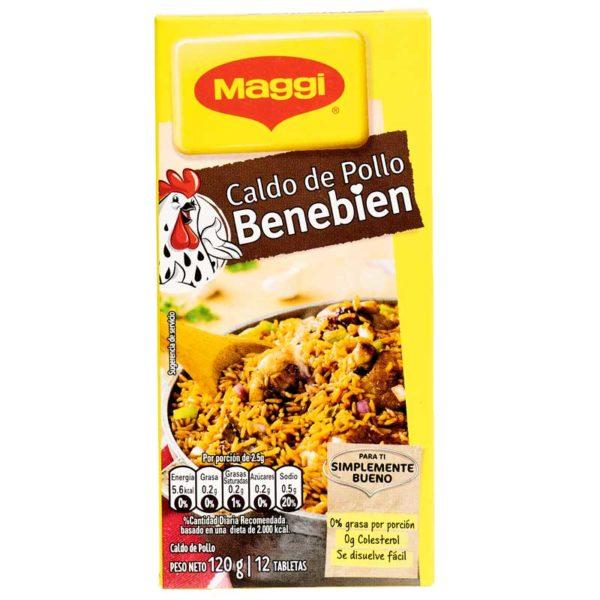 Caldo de Pollo Maggi Benebien, 12 Tabletas