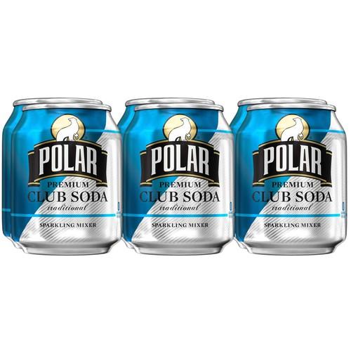 Club Soda Polar Premium, 7.5 oz (6 pack)