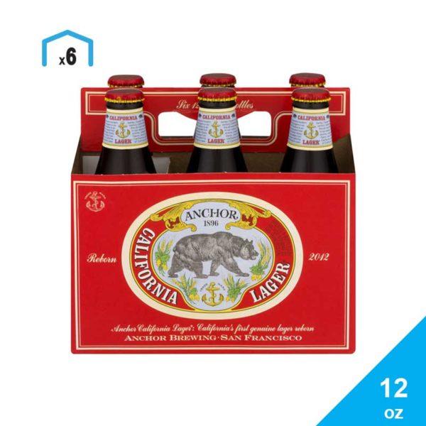 Cerveza Anchor California Lager, 12 oz