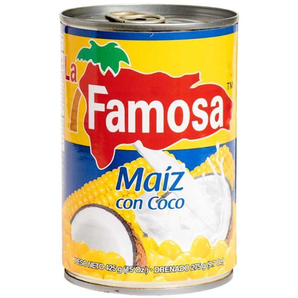 Maíz con Coco La Famosa, 15 oz