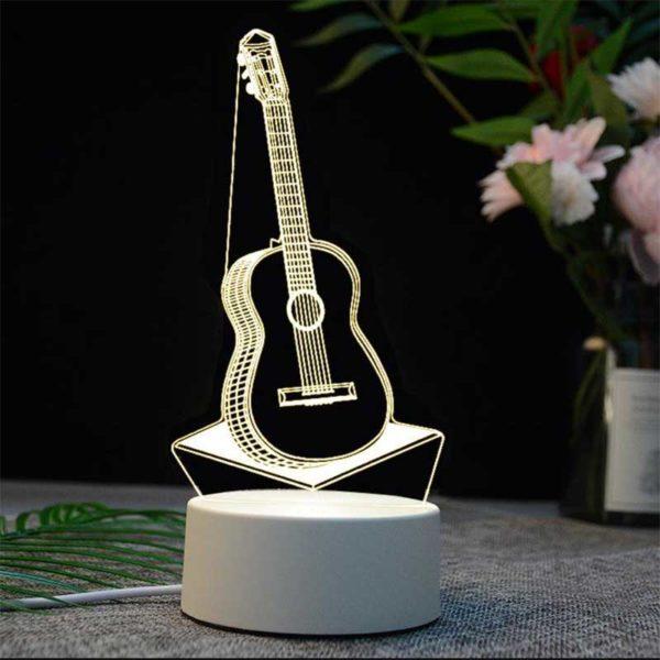 Lámpara 3D LED 4 W Guitarra