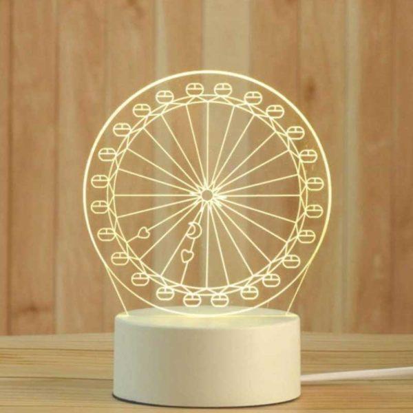 Lámpara 3D LED 4 W Rueda