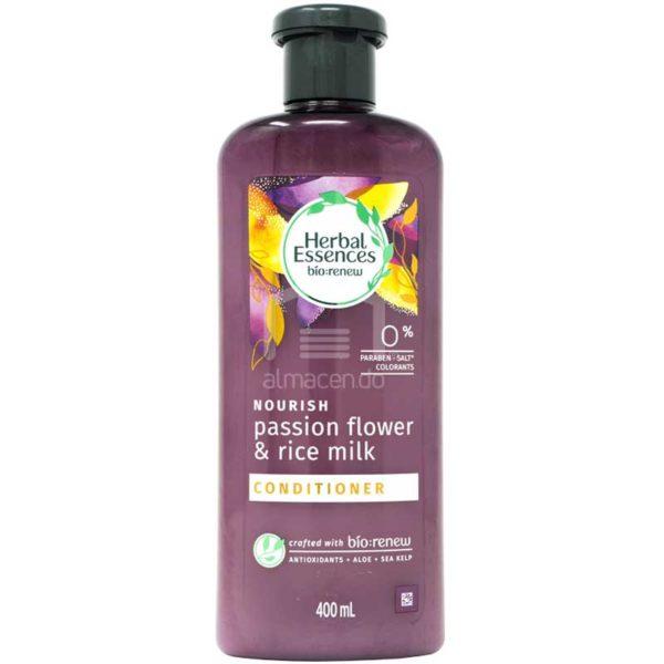 Acondicionador Nutritivo Herbal Essences Passion Flower & Rice Milk, 400 ml