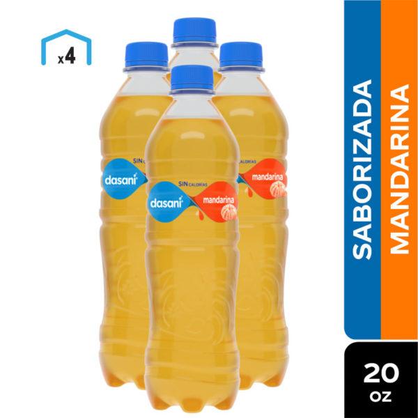 Agua Dasani Saborizada Mandarina, 20 oz (4 Pack)