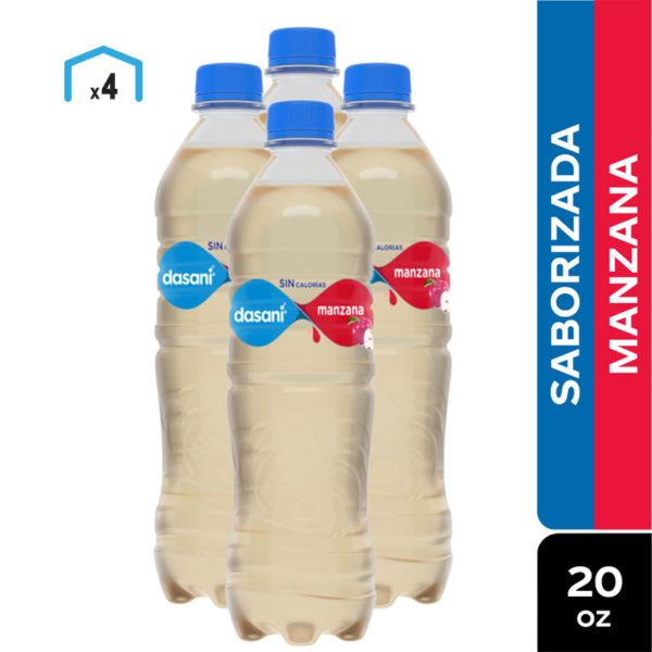 Agua Dasani Saborizada Manzana, 20 oz (4 Pack)