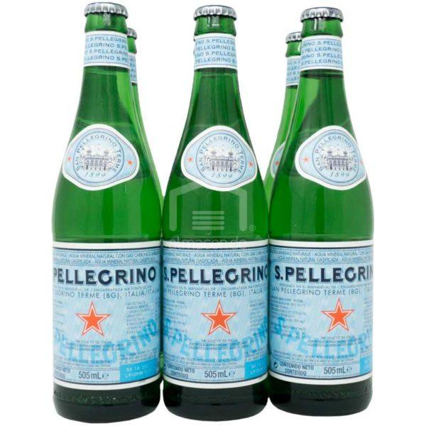 Agua Mineral Natural con Gas San Pellegrino, 505 ml (6 pack)
