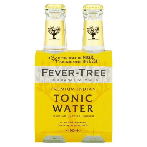 Agua Tónica India Fever-Tree, 6.7 oz (4 pack)