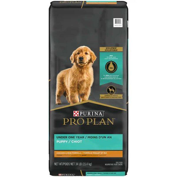 Alimento Seco para Perro Cachorro Purina Pro Plan Focus Fórmula de Pollo y Arroz, 34 lbs