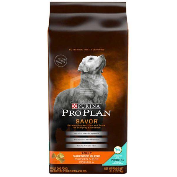 Alimento Seco para Perro Adulto Purina Pro Plan Savor Fórmula Triturada de Pollo y Arroz, 6 lbs