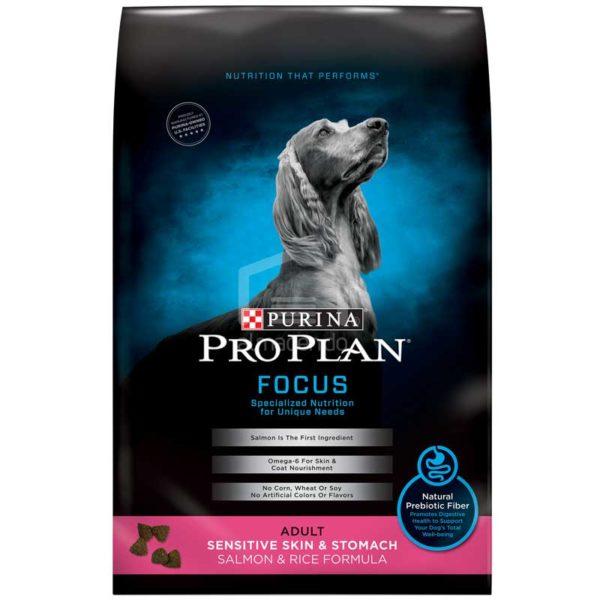 Alimento Seco para Perro Adulto Purina Pro Plan Focus Piel Sensible y Estómago, 30 lbs
