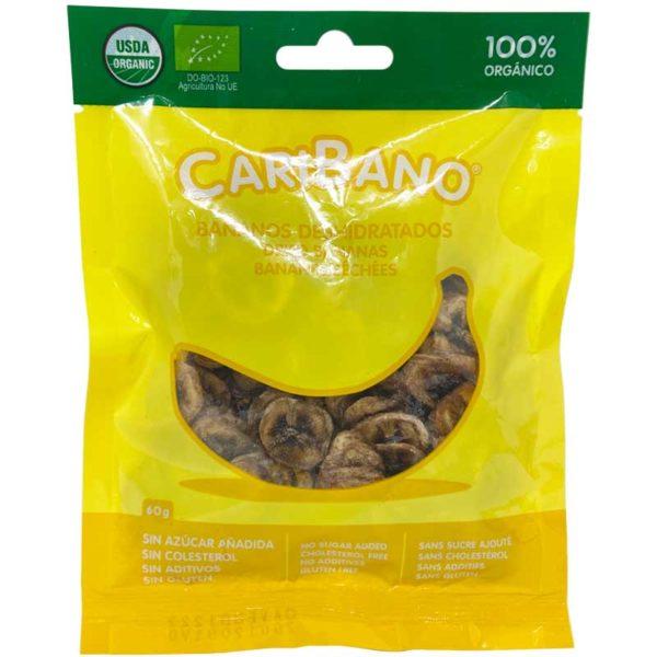 Bananos Deshidratados CariFrutas, 60 g