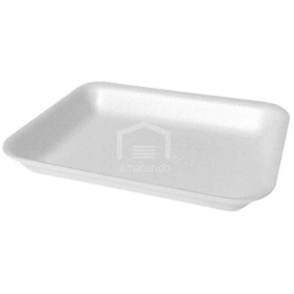 Bandeja Foam 4D Plastifar Blanca, 500 uds