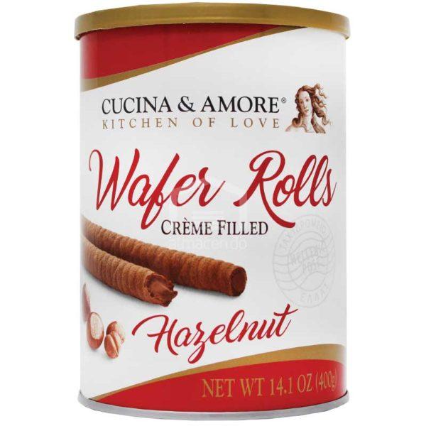 Barquillas Cucina & Amore Rellenas de Avellana, 400 g