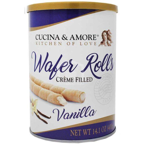 Barquillas Cucina & Amore Rellenas de Vainilla, 400 g